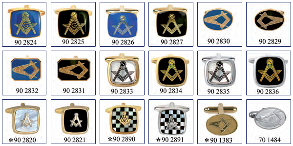 masonic jewellery range