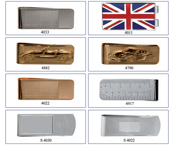 gold and silver money clips